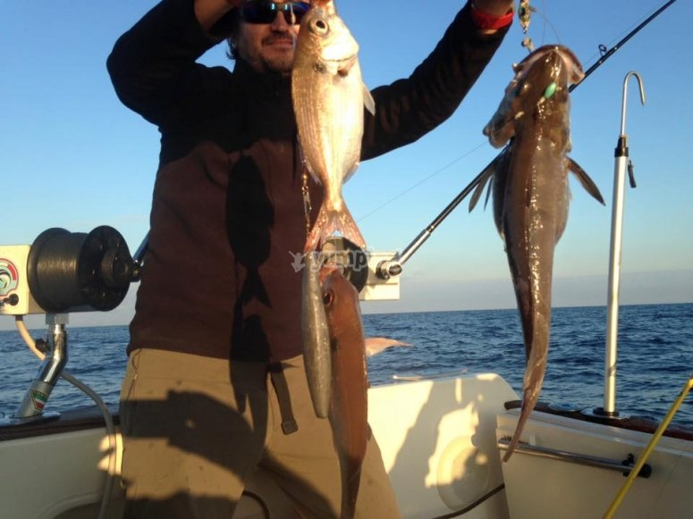 Buena jornada de pesca