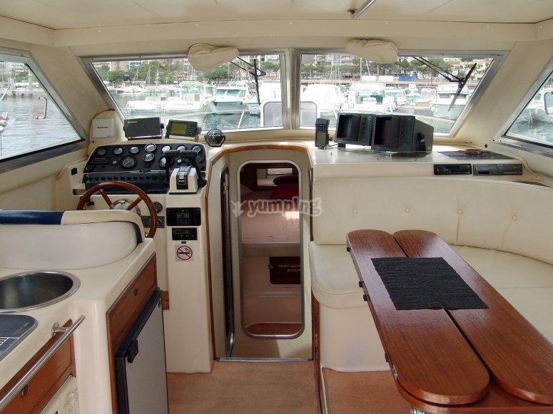 El interior del barco