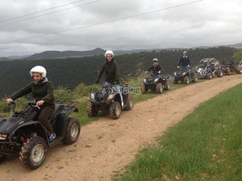 Excursión en quad monoplaza