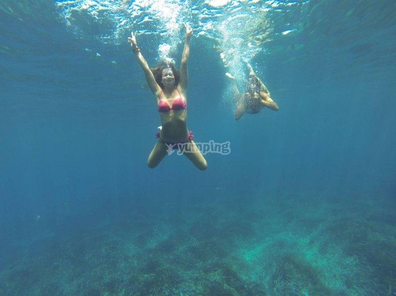 Bano en el Mediterraneo