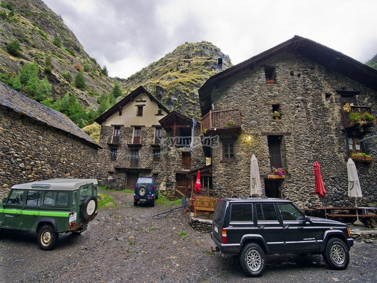 Visiting villages by an 4x4 Andorra
