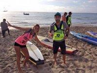 Diversion con el paddle surf