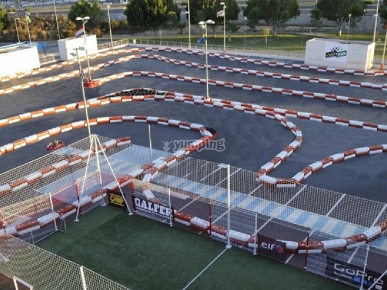 Karts circuit from upwards