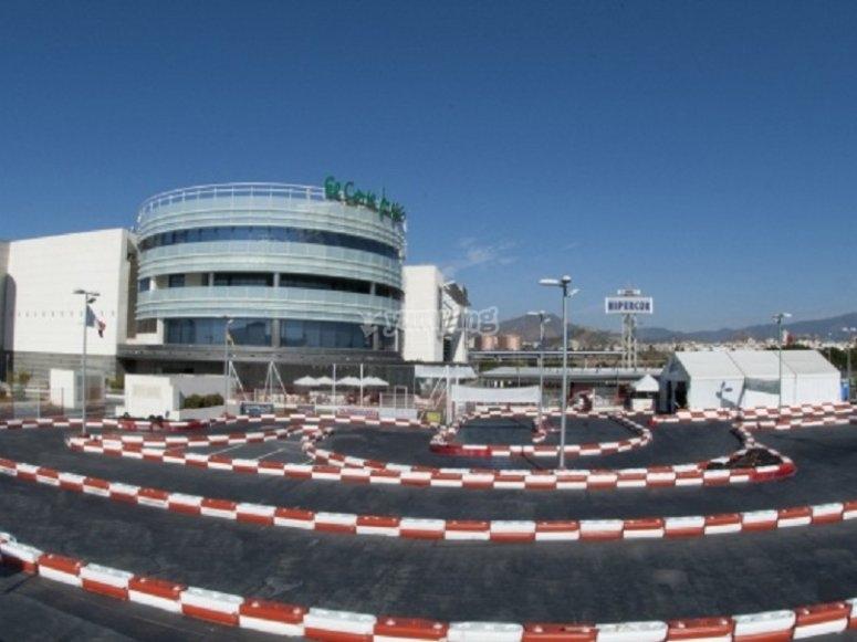 Karts circuit in Málaga
