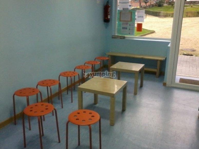 Mesas con sillas