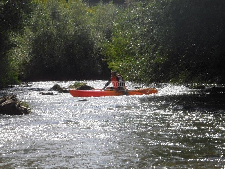 独木舟在Ebro