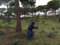 Partida de paintball en Cartaya con 300 bolas