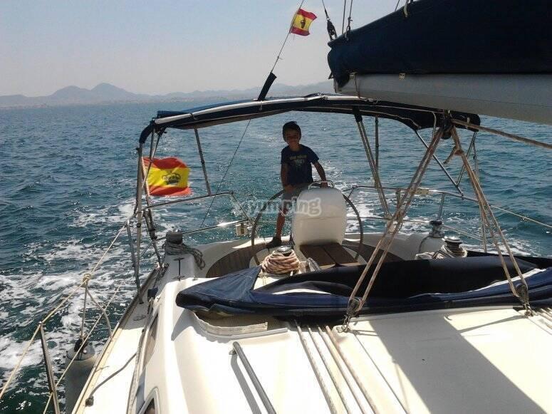 Barca a vela a vela