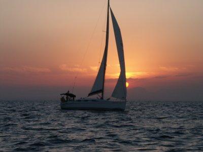 在La Manga的帆船航行为家庭4h