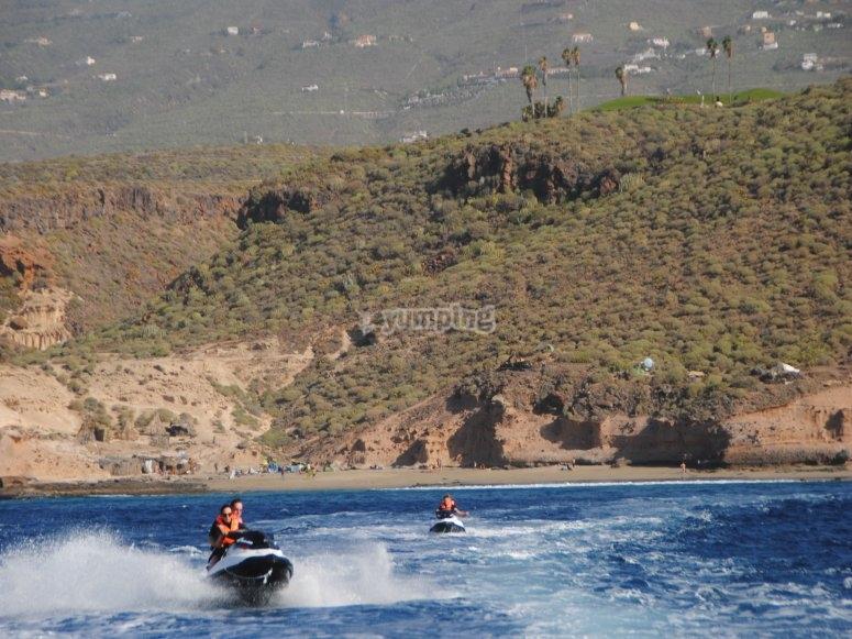 Motos de agua en Tenerife