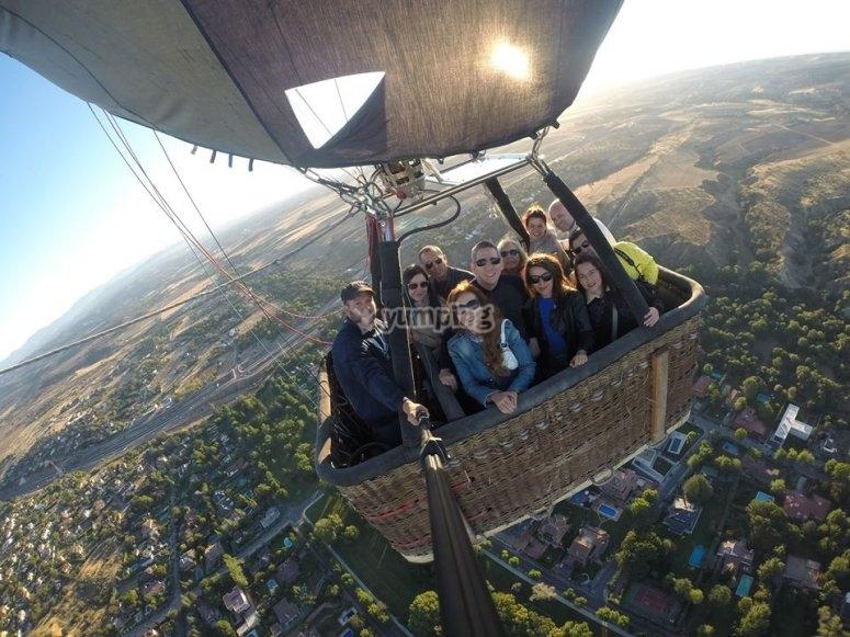 Balloon ride experience