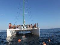 船在Ibiza党伊维萨