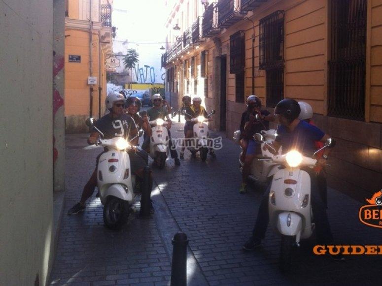 Ruta en scooter