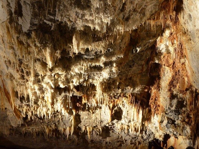 Estalactitas en la cueva