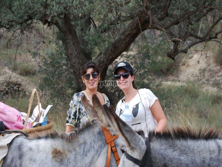 Junto a los burros