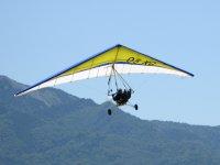 Modello di deltatrike in volo