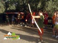 Participando en tiro con arco
