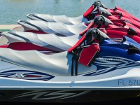 The jet skis are ready