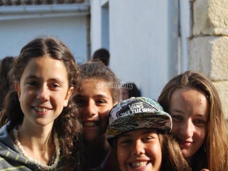 Alumnas del campamento