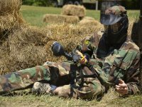 Practice paintball to release stress