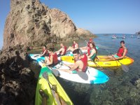Detained with the kayaks between the coves