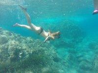 Snorkeling from kayaking