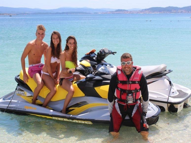 Esperienza su una moto d'acqua
