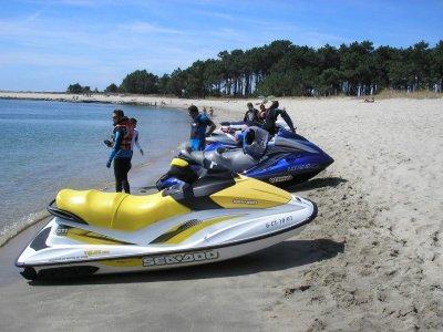 Ruta en moto de agua a Isla de la Toja por 80 min