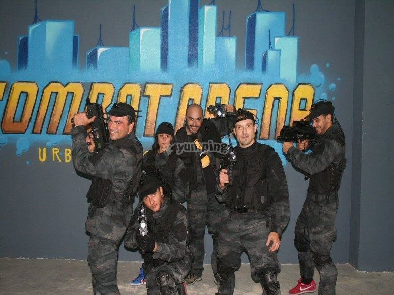 Jugadores de laser combat