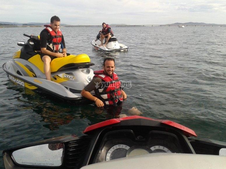 Comenzamos la ruta en moto de agua