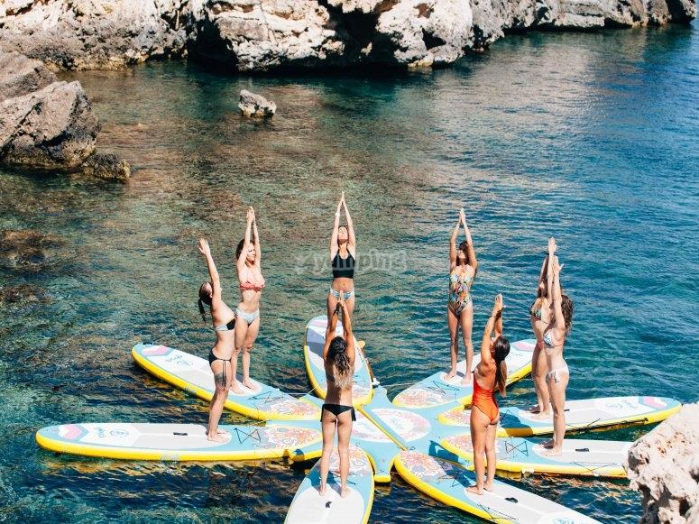 Sup yoga en ibiza
