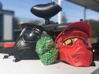 彩弹射击面具和球