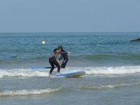 Iniciandonos en el surf