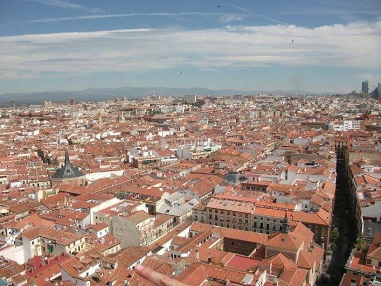 Vista aerea de Madrid