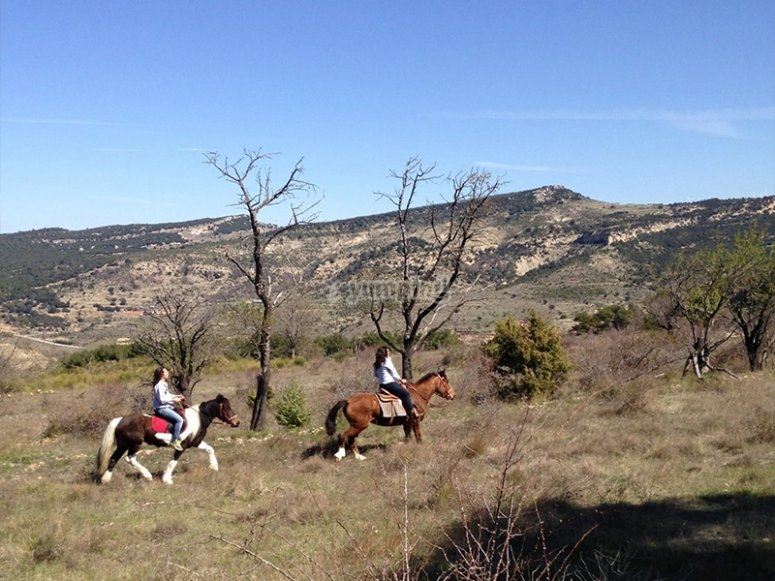 Ruta a caballo por Morella