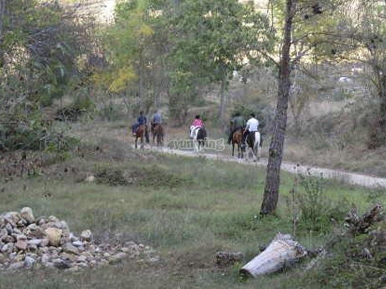 Travesía a caballo