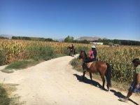 Salida campestre a caballo