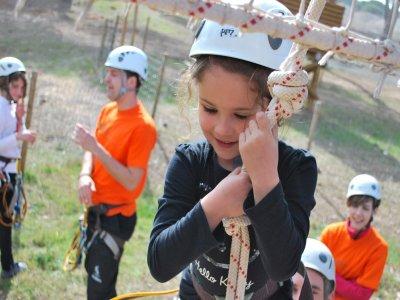Zip wire track Valladolid for children 5-11 years.