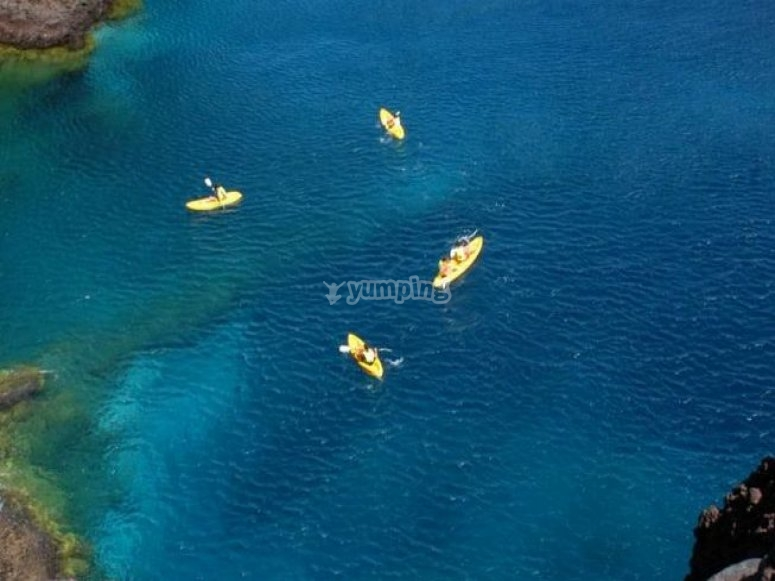 Kayak group in Tenerife