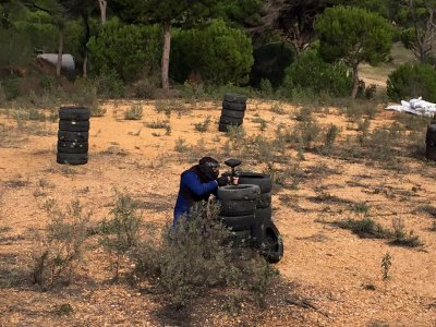 Paintball para niños en Cartaya con 200 bolas