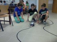 检查机器人的动作在课堂