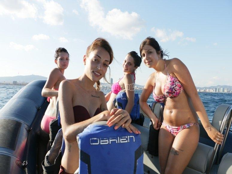 Disfrutando del speed boat