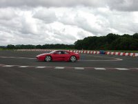 in the circuit with the Ferrari