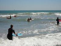Entrenando en el mar