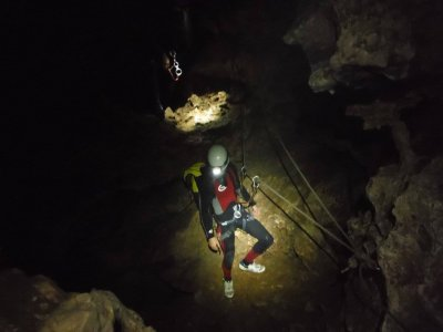 Speleology in Sima de la Escopeta