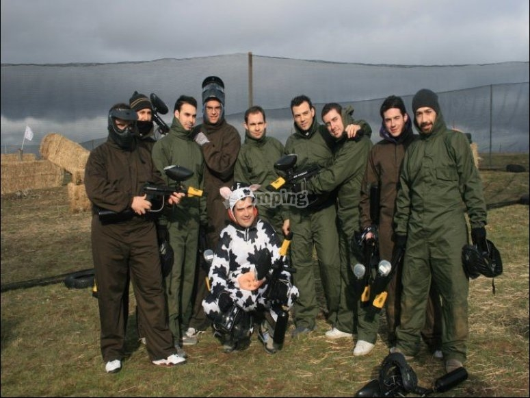 Paintball en despedida de soltero