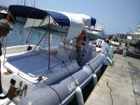Saliendo en barco