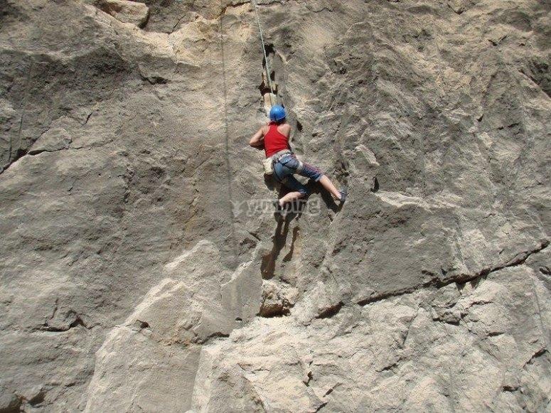经验丰富的攀岩者
