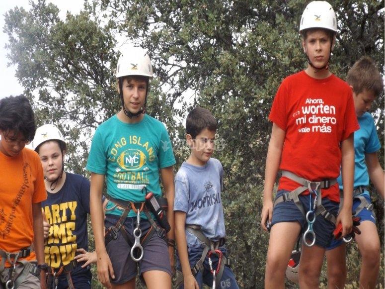 estudiantes a escalar