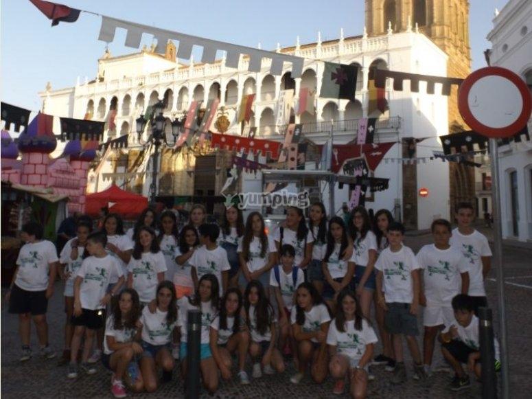estudiantes de excursion